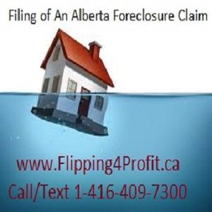 Filing of an Alberta foreclosure claim