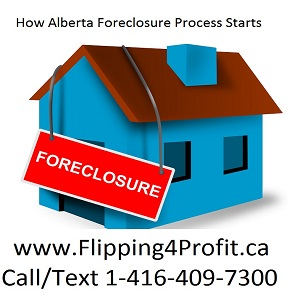 How does Foreclosure process in Alberta take place?