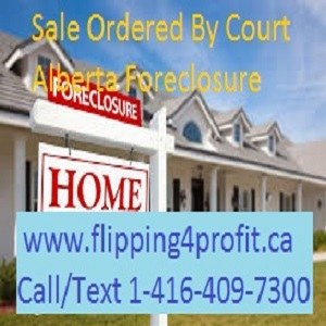 Sale ordered by the court - Alberta Foreclosure