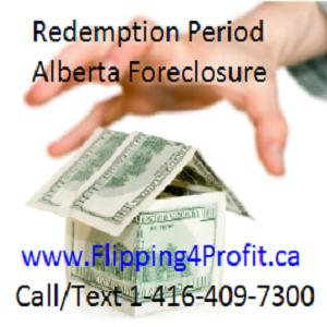 Redemption Period - Alberta Foreclosure