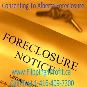Consenting to the Alberta foreclosure
