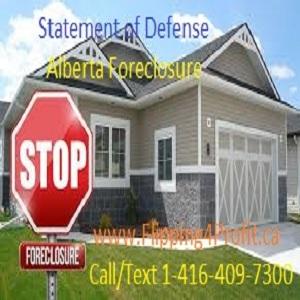 Statement of defense - Alberta Foreclosure