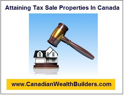 Acquiring Tax Sale Properties In Canada
