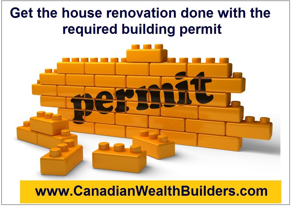 Get the house renovation done with the required building permit