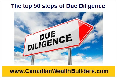 The top 50 steps of Due Diligence